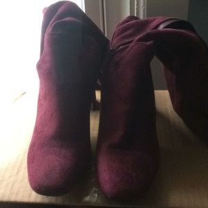 Shoes - Burgundy knee-high boots